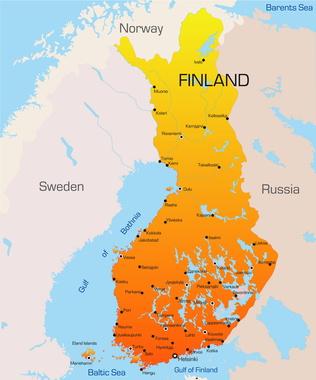 Abstract vector color map of Finland country - Matt & Basti ...